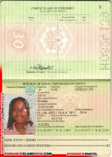 Diana Ayivi - Ghana Passport H0824139