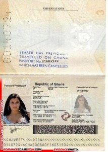 Diana West - Ghana Passport # H1694930 [G0140724]