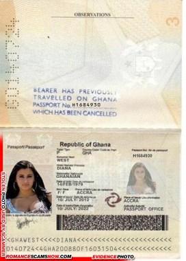 Diana West - Ghana Passport # H1694930 [G0140724]