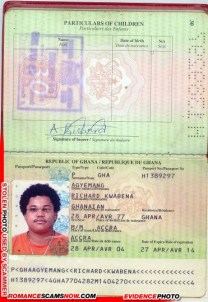 Richard Kwabena Agyemang - Ghana Passport H1389297