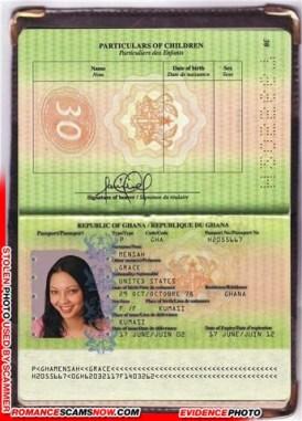 Grace Mensah - Ghana Passport H2055667