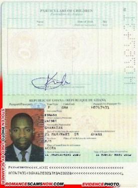 Jacobs Konahi - Ghana Passport H0767491