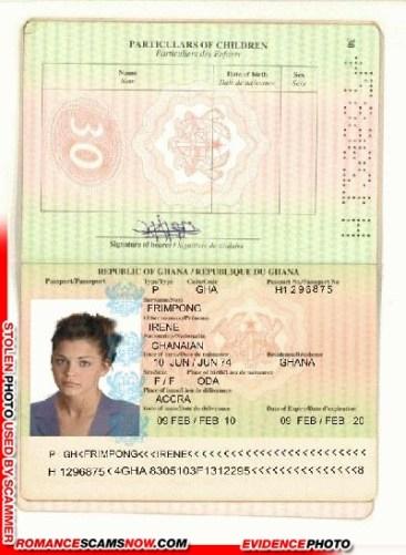 Irene Frimpong - Ghana Passport H1296875