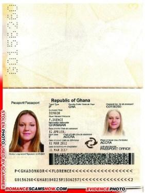 Florence Donkor - Ghana Passport G0156260