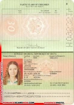 Joyce Akitiwa - Ghana Passport H0953514