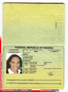 Lilian Rose Smith - Ghana Passport A1400319