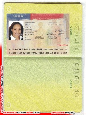 U.S.A. Visa - Lilian Rose Smith - Ghana Passport A1400319
