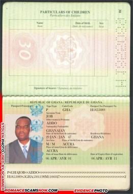 JOB ADDO - Ghana Passport H1855089