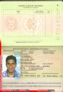 Wilson Raj Perumal - Ghana Passport H2071304