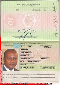 John Dramani Mahama - Ghana Passport H1527864