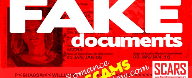 Fake Scammer Documents & Passports
