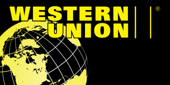 Western Union Money Transfer Service logo - banner