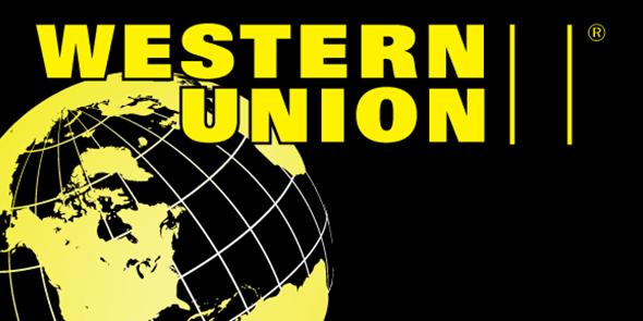 Western Union Money Transfer Service logo - banner