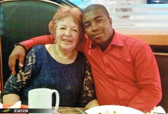 Angela Nwachukwu (72) and her Nigerian husband CJ (27) (Buzz Nigeria )