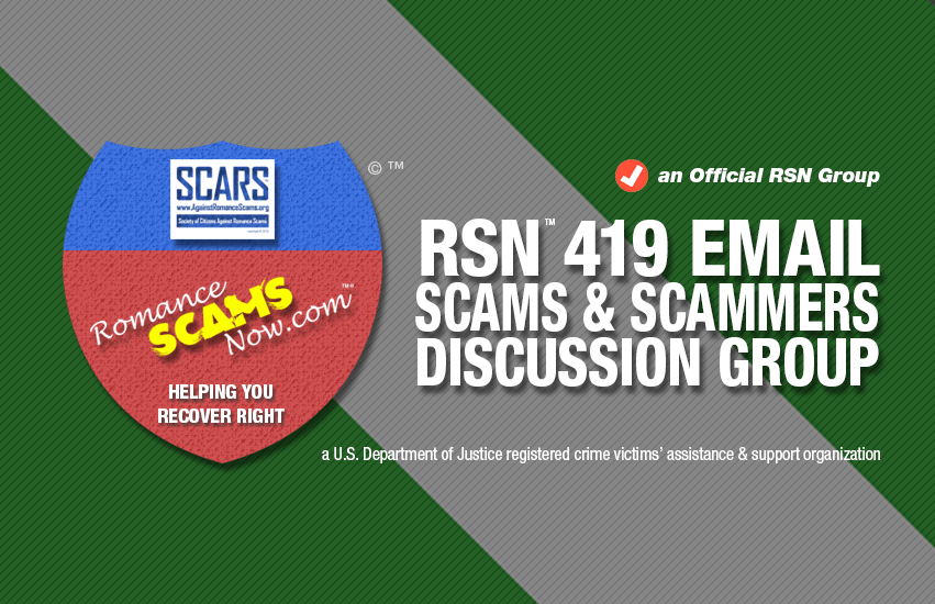 RSN™ Nigerian 419 Scams Discussion Group - an Official RSN™ Group
