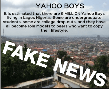 5-million-yahoo-boys in Lagos Nigerian - Fake News