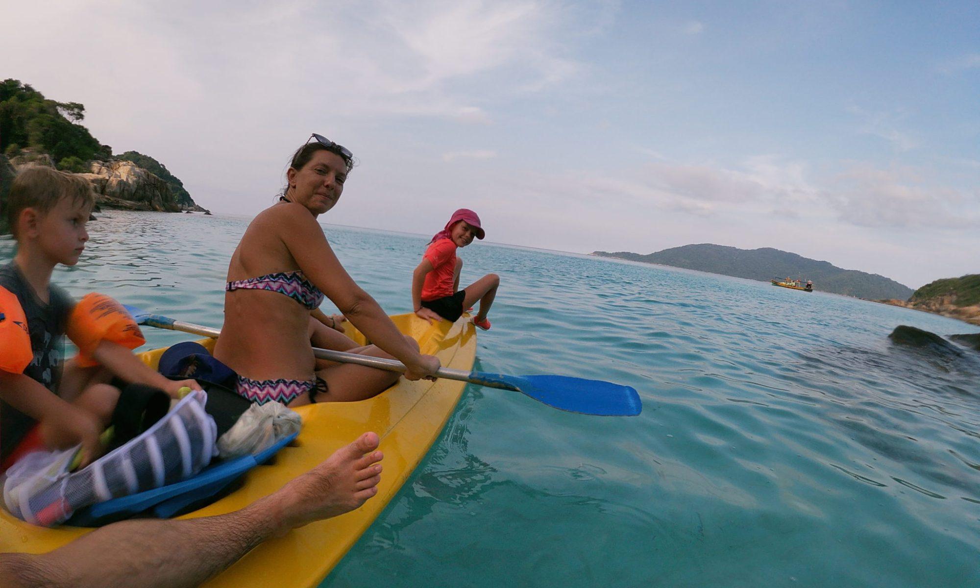 Kayak aux îles Perhentian, Malaisie