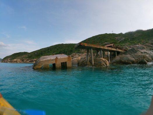 Snorkeling aux îles Perhentian, Malaisie : le ponton écroulé