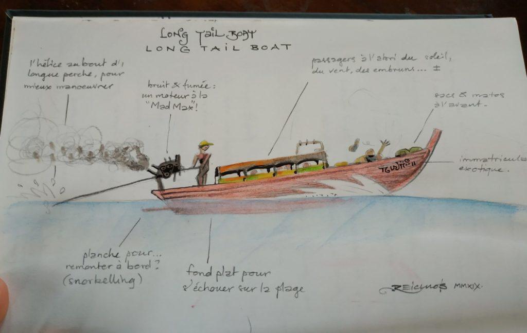 """Long tail boat : les """"bateaux à longue queue"""" pour les courts trajets"""