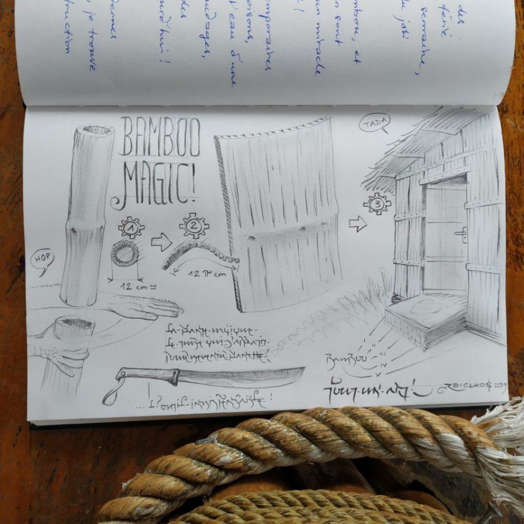 Magic Bamboo - c'est fou tout ce qu'on peut faire avec du bambou (dessin)