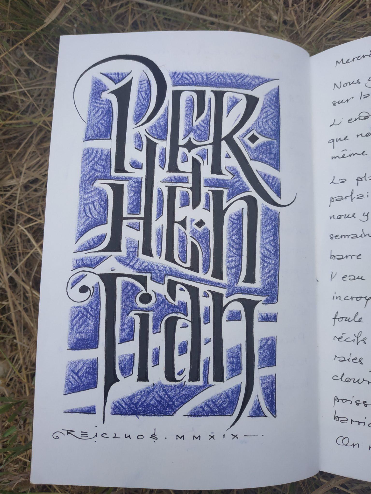 Iles Perhentian - Calligraphie (dessin)