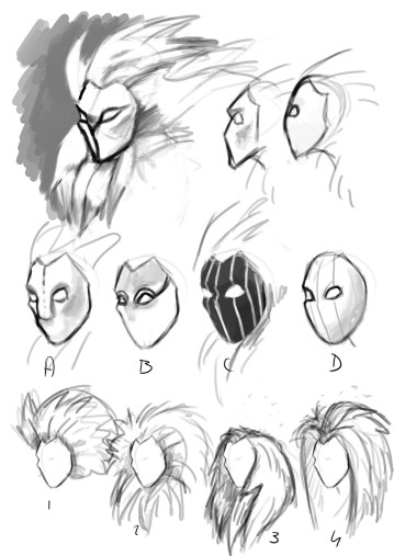 Researches for the Guardian's mask design