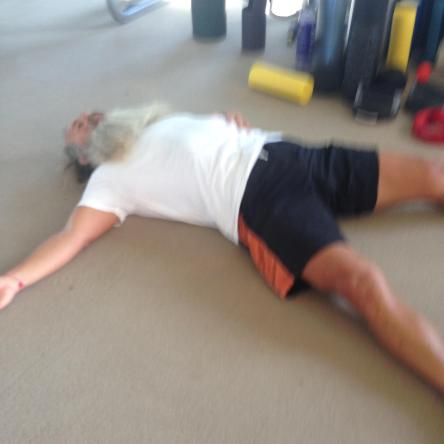 Rick Rubin, passed out from training.