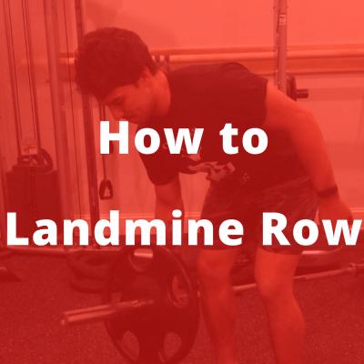 how to landmine row