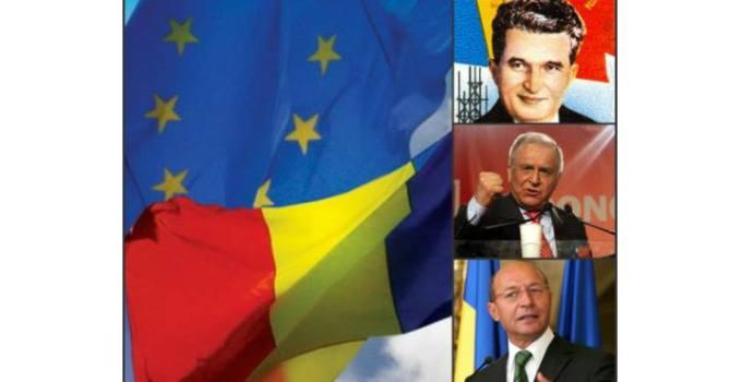 """Vrei ca România să iasă din Uniunea Europeană și să fie """"independentă"""" cu lideri ca Ceaușescu, Iliescu sau Băsescu? Ori să rămână într-o Uniune Europeană organizată ca un stat federal pe modelul SUA? 8"""