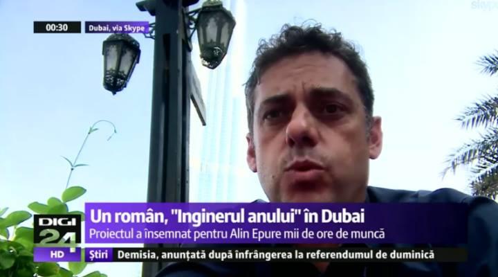 """(Video) FELICITĂRI! Un român este """"Inginerul anului"""" în Dubai"""