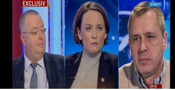 """(Video) Scandal la Antena 3. Românii din străinătate atacați de Ciuvică: """"Nu plătiți impozite la stat. Deci nu aveți cum să cereți autostrăzi dacă nu plătiți impozit la stat"""". Replică în studio: """"Românii din străinătate au susținut țara asta mai mult decât orice investitor străin. Noi suntem cei care au muncit în străinătate. Acolo am fost singuri pentru că voi jefuiți țara asta!"""" 5"""