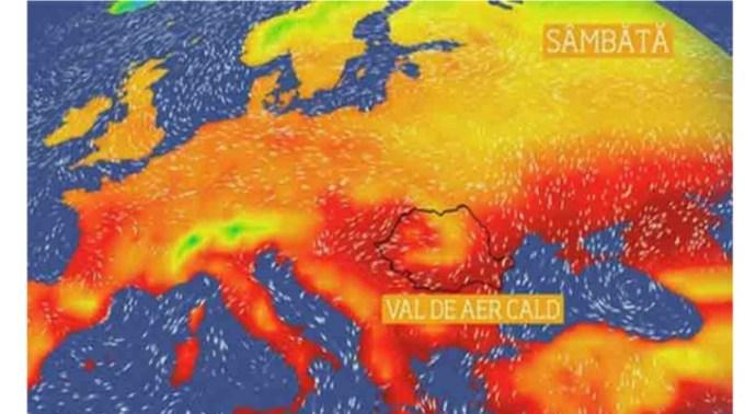Caniculă. Val de aer saharian blocat deasupra României. Vor fi și nopti tropicale, cu temperaturi care nu vor scădea sub 20 de grade Celsius 1