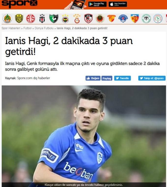 """(Video) """"Ce intrare și-a făcut!"""" Presa belgiană, la picioarele lui Ianis Hagi. Gol la debut pentru Genk. """"Încă am de muncă pentru a mă adapta fotbalului din Belgia. Sunt într-o perioada de acomodare. Vreau să ..."""" 1"""