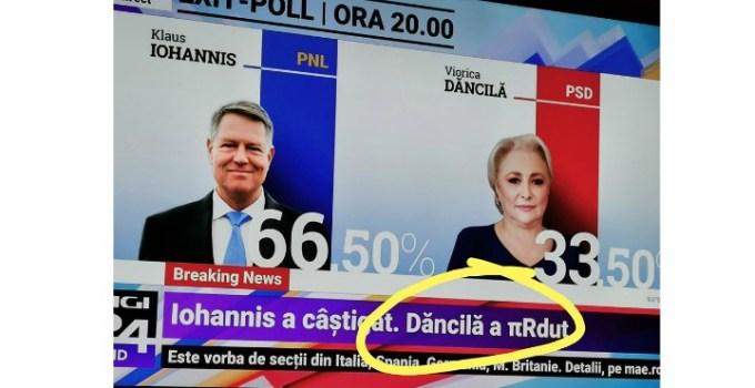 "Traian Berbeceanu: ""Șoc! Cecereul a decis! Doamna Viorica a câștigat prezidențiale cu 103, 62%. Aveți calculul mai jos: 33% × 3.14 = 103.62 Q.e.d."" 14"