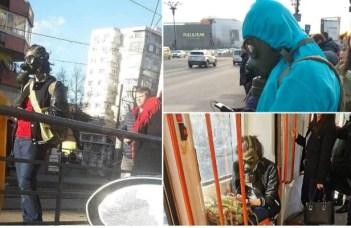 (Foto) Isteria coronavirus. Tineri mascaţi ca în filmele cu atacuri chimice pe străzile din București 7