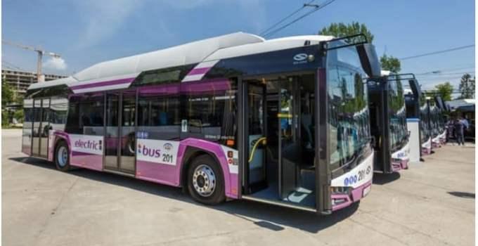 Oraș norocos. Primele autobuze electrice din România circulă începând de astăzi pentru transportul de persoane 16