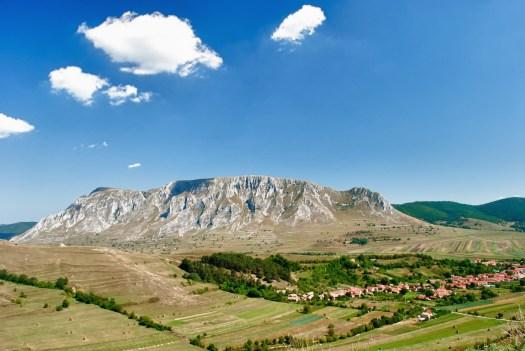 Secuiului Rock Carpathian mountains Romania beautiful landscape Autumn view from Trascau's citadel