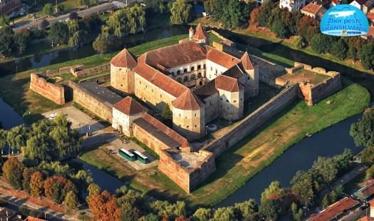 Medieval citadel Fagaras Transylvania Romania aerial 1 beautiful landscape