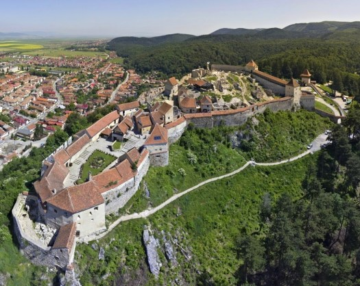 Rasnov citadel fortress Transylvania Romania Carpathian mountains beautiful scenery