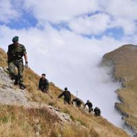 Special Mountain Troops in Fagaras mountains (Southern Carpathians)