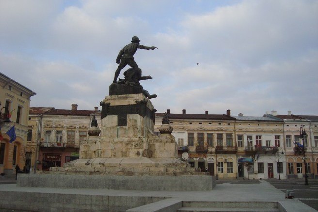 """Grupul statuar """"Compania de mitraliere Maior Ignat în Atac"""" (Botoșani)"""