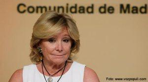 Surpriză de proporţii la Madrid: Esperanza Aguirre se retrage din viaţa politică in plina glorie!