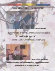 """Madrid: Invitaţie la cea de-a V-a ediţie a spectacolului folcloric """"Hora de Paşte"""" din Brunete"""