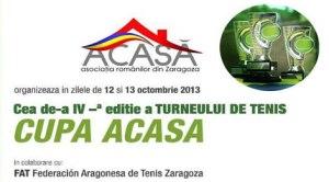 """Zaragoza: Cea de-a IV-a ediţie a turneului de tenis """"Cupa Acasă"""""""