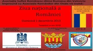 Invitaţie la sărbătorirea Zilei Naţionale a României în Onda