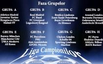 Componenţa grupelor Ligii Campionilor în urma tragerii la sorţi