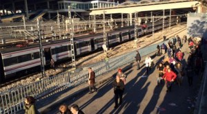 Momentul în care gara Atocha a fost evacuată / Foto: Javier Carmona