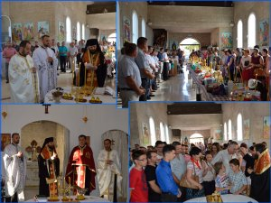 Taina Sfântului Maslu în noua biserică parohială a Parohiei Ortodoxe Române Roquetas de Mar