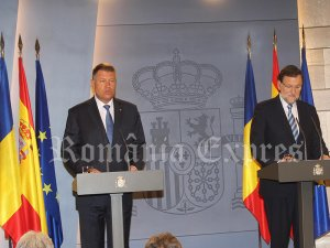 Klaus Iohannis şi Mariano Rajoy în conferinţă de presă la Palatul Moncloa