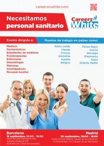 Recrutorii de personal medical din Europa vin în Spania